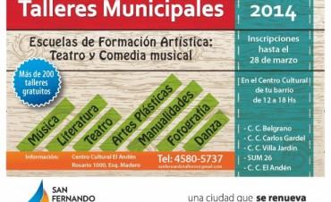 Se encuentran abiertas las inscripciones para los Talleres Municipales 2014, en San Fernando