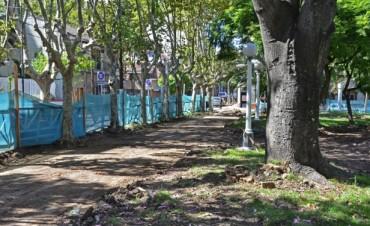 Plaza San Martín: Comenzó la primera etapa de obras