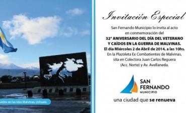 Luis Andreotti homenajeará a los Excombatientes en el 32° Aniversario Día del Veterano y de los Caídos en la Guerra de Malvinas
