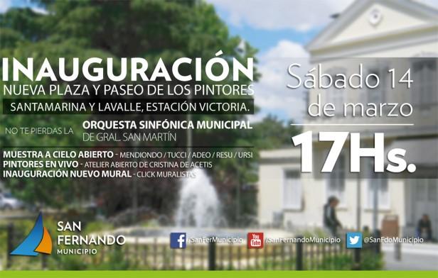 """San Fernando inaugura una nueva plaza y el """"Paseo de los Pintores"""", en la estación Victoria"""