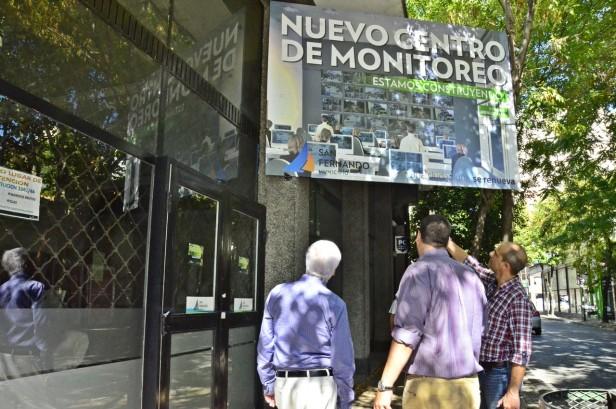 Luis Andreotti supervisó la obra del nuevo Centro de Monitoreo y Base de Patrullas de San Fernando