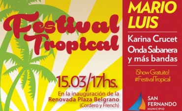Festival Tropical en la renovada Plaza Belgrano
