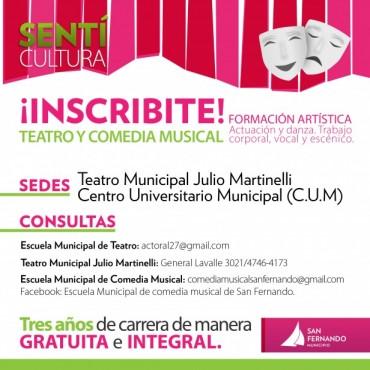 Abierta la inscripción para las Escuelas Municipales de Teatro y Comedia Musical de San Fernando