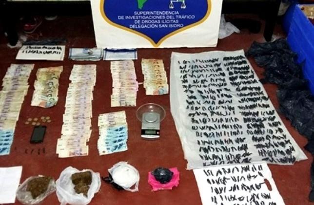 Secuestraron drogas y detuvieron a cinco personas en San Fernando
