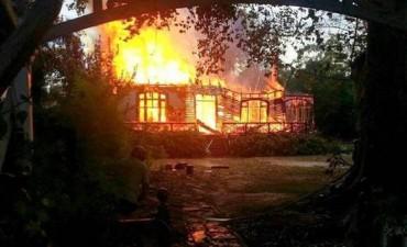 Se incendió la casa de Vitico, ex Riff, en el Tigre