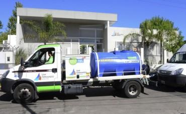 San Fernando limpia los tanques de agua de las UDI, CEIM y el Taller Protegido