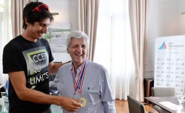 Luis Andreotti recibió al sanfernandino Campeón de Remo, Iván Carino