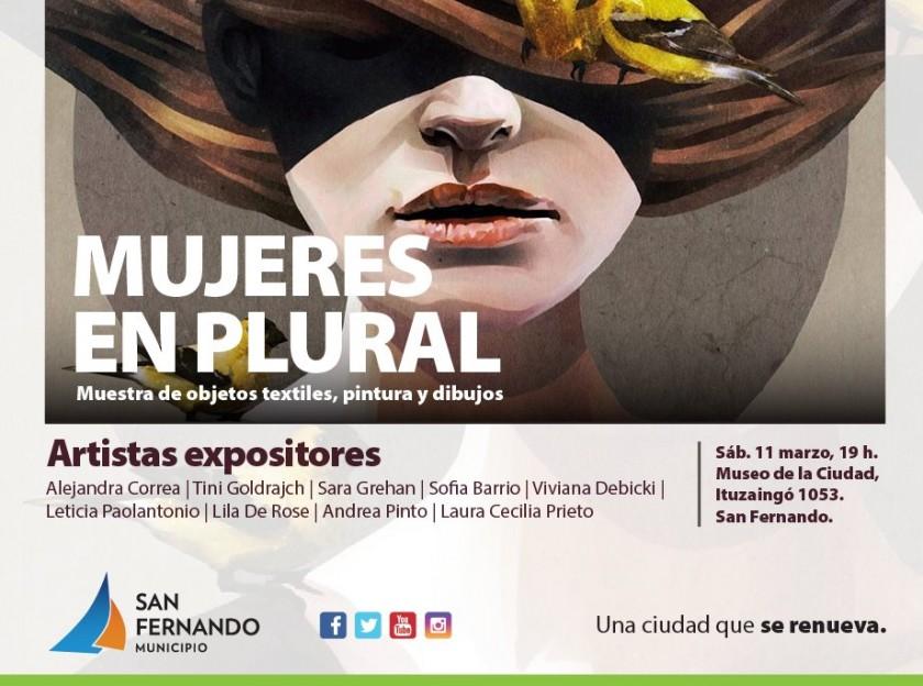 Muestra de pintura, dibujo y  objetos textiles en San Fernando
