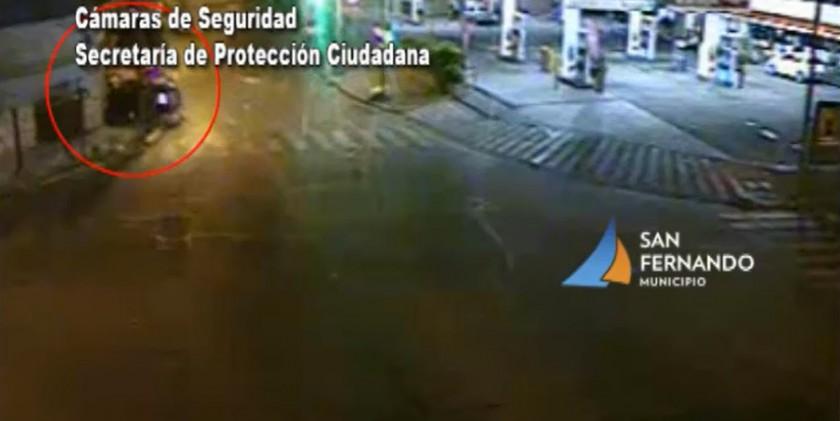San Fernando: espectacular choque con inmediata atención