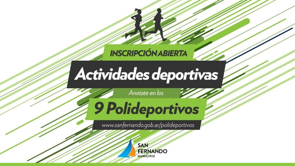 Iniciaron las actividades anuales en los Polideportivos de San Fernando