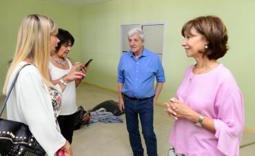 Andreotti supervisó las obras del Jardín Maternal Municipal 'Don Mariano'