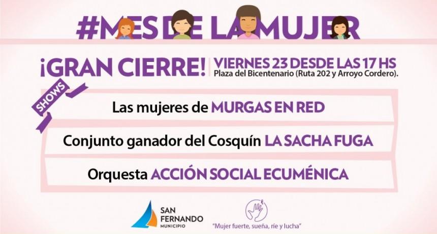 Gran cierre del 'Mes de la Mujer' en San Fernando