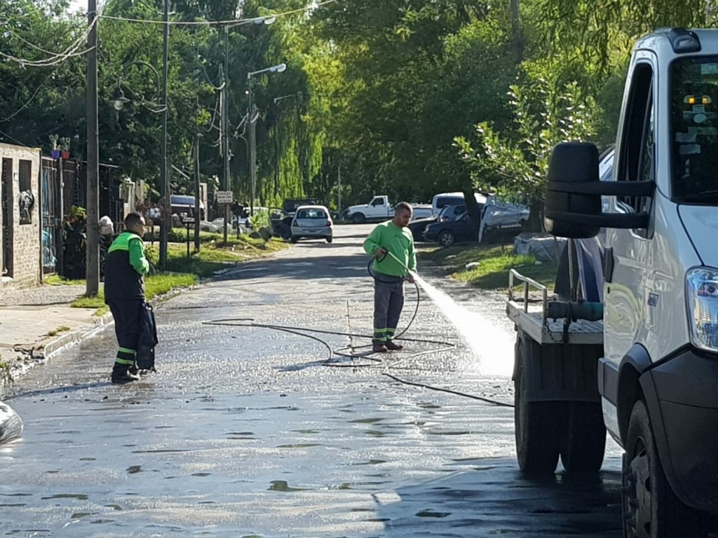San Fernando implementó operativos de limpieza e higiene urbana tras la sudestada