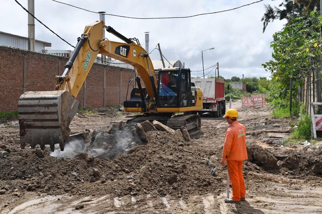 San Fernando: Avanza en la obra de la calle Rivadavia hacia el río