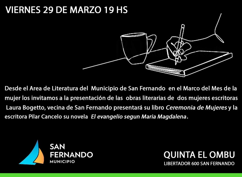 """Este viernes, dos escritoras presentarán sus libros en la Quinta """"El Ombú"""" de San Fernando"""