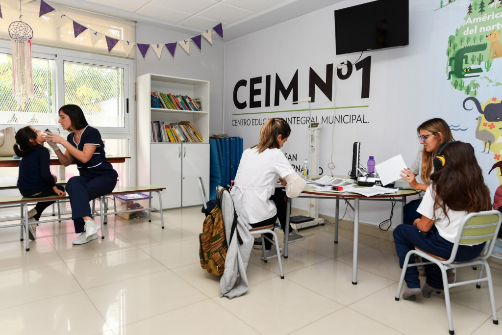 Comenzaron los controles de Salud Escolar en los CEIM de San Fernando