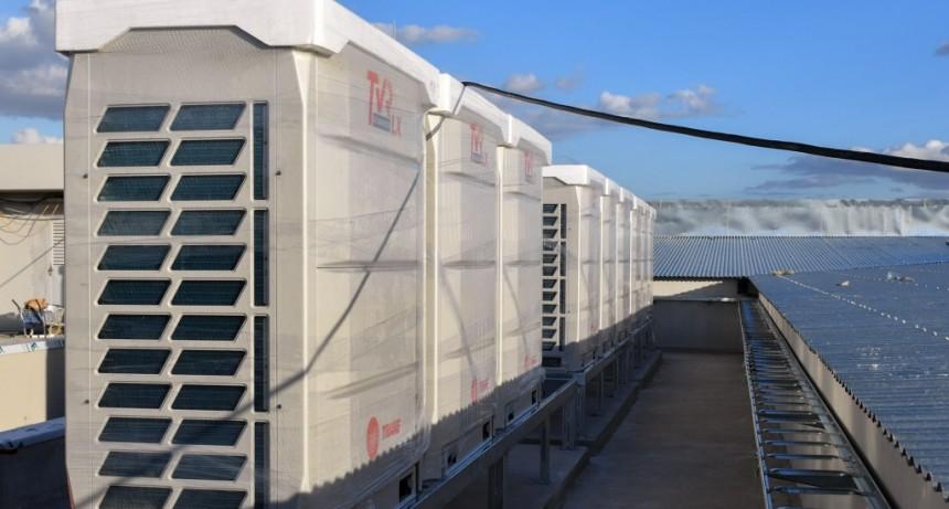 El futuro Hospital Municipal ya cuenta con sus equipos de aire acondicionado