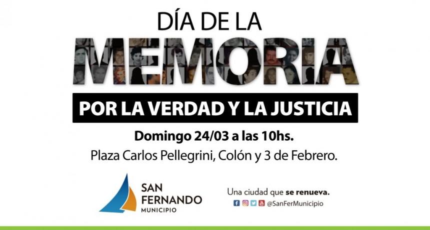 San Fernando conmemorará el Día de la Memoria, la Verdad y la Justicia