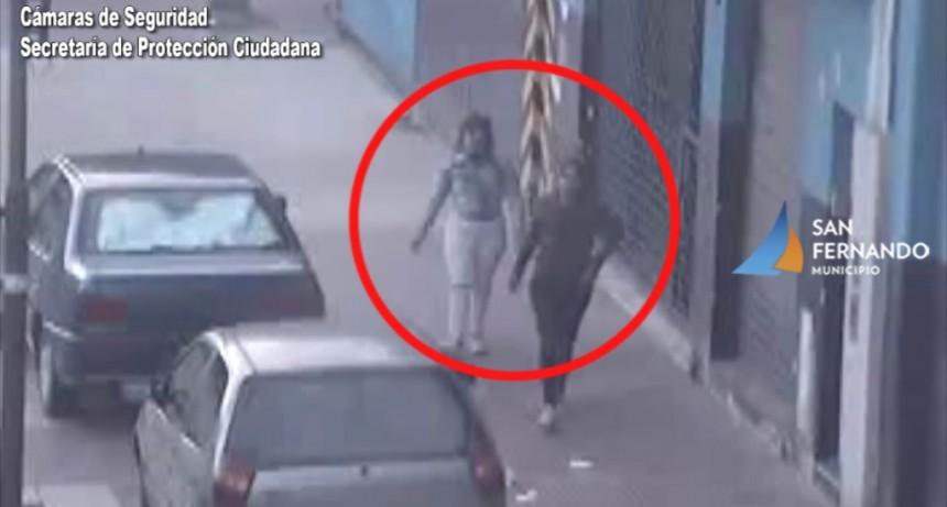 San Fernando: Las Cámaras permiten detener a dos mujeres que robaron el interior de un auto estacionado