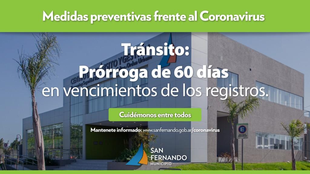 Tránsito de San Fernando toma nuevas medidas de prevención ante el coronavirus
