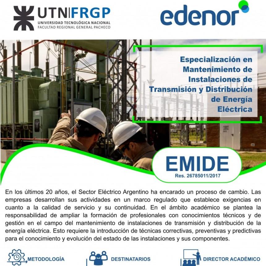 UTN: Especialización en Mantenimiento de Instalaciones de Transmisión y Distribución de Energía Eléctrica