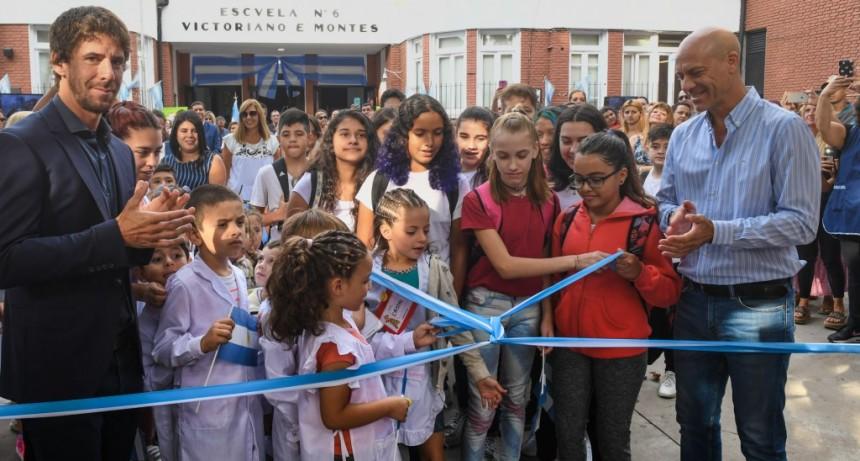 Juan Andreotti inauguró el renovado edificio de la Primaria Nº 6 y Secundaria Nº 23