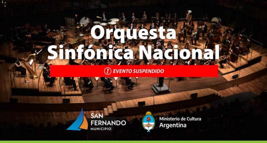 Suspendido el concierto de la Orquesta Sinfónica Nacional en San Fernando