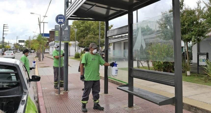 San Fernando toma medidas de prevención ante el coronavirus en los espacios públicos