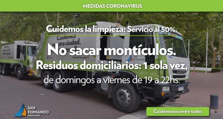 San Fernando pide no sacar basura en los feriados, y cuenta cómo será la recolección durante la cuarentena