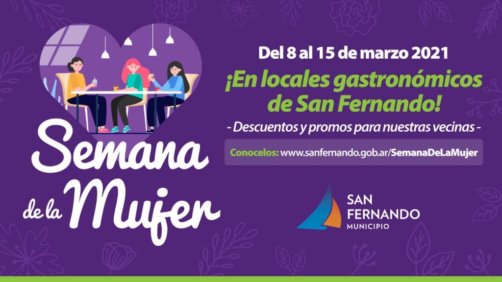 """Locales gastronómicos de San Fernando tendrán una """"Semana de la Mujer"""" con promociones y descuentos"""