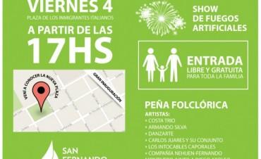 Este viernes se inaugurará la Nueva Plaza de los Inmigrantes Italianos