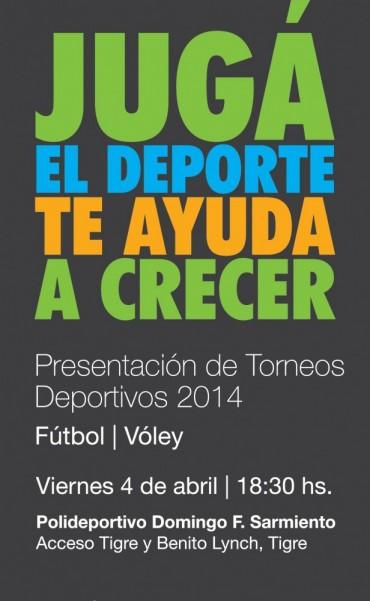 Presentación de los Torneos Deportivos 2014