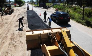 Trabajos de bacheo en la Ruta Provincial 26