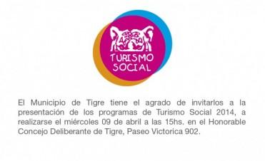 Presentación de los programas de Turismo Social