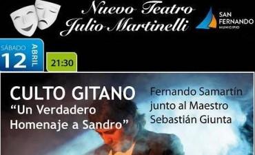"""""""Culto Gitano"""", un recorrido por los inolvidables éxitos de Sandro, se presenta en el Teatro Martinelli"""