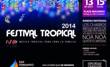 """Se viene el """"Festival Tropical 2014"""", en San Fernando"""