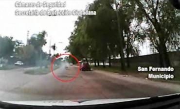 San Fernando: persecución termina con una moto dentro de un zanjón y dos delincuentes detenidos
