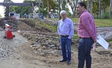 Luis Andreotti recorrió nuevos trabajos de desagüe en la zona del bajo