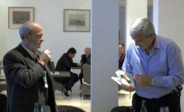 Julián Domínguez en Mar del Plata con la Agrupación Gelbard
