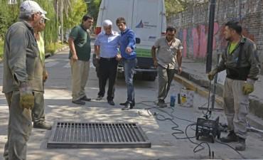 San Fernando construye nuevos desagües más eficientes y mejora otros en las zonas bajas del partido