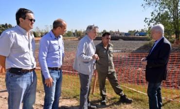 San Fernando y la empresa Fate continúan trabajando en el nuevo reservorio