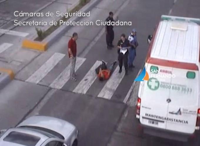 Cámaras de Seguridad de San Fernando permiten rápida asistencia médica ante fuerte choque