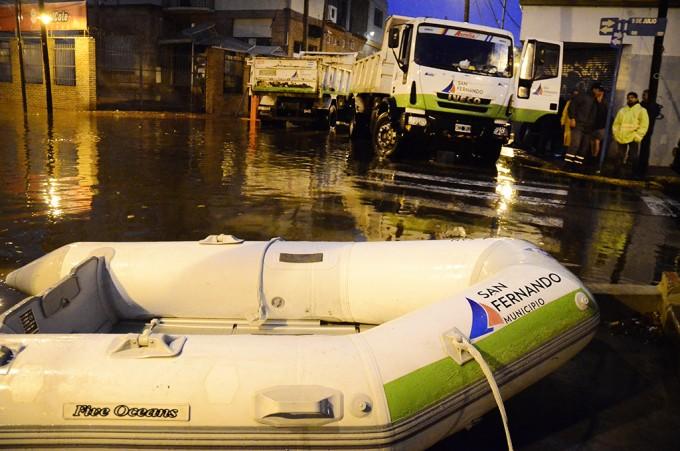 El Municipio de San Fernando dispuso un gran operativo por la sudestada