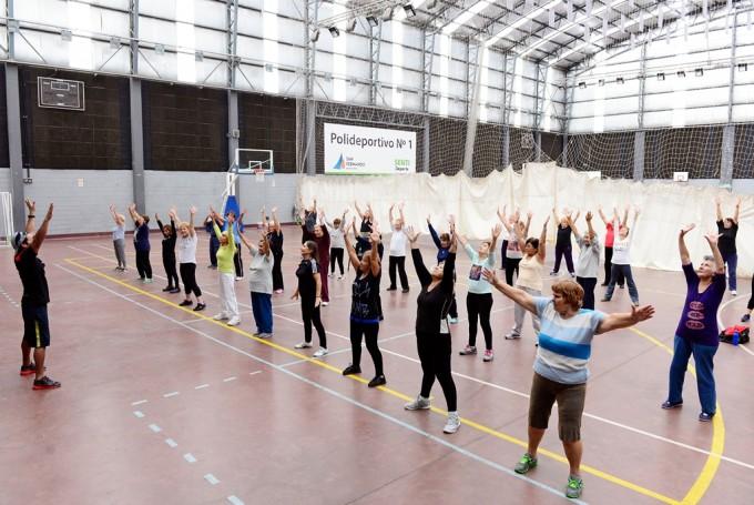 Todos los Polideportivos municipales de San Fernando brindan actividades a la Tercera Edad
