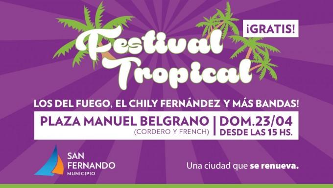 'Los del fuego' y Chily Fernández, en el festival tropical de San Fernando