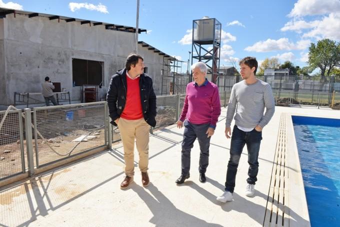 Andreotti supervisó las obras del nuevo Polideportivo N°8