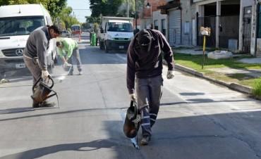 Cuadrillas municipales avanzan en la reparación de calles de Virreyes