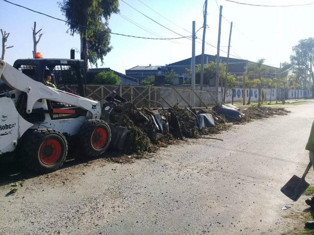 Gran operativo municipal de limpieza e higiene urbana durante el fin de semana largo