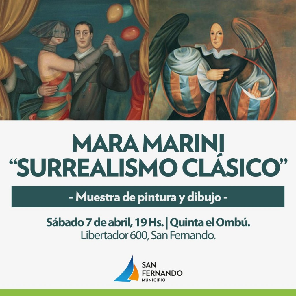 """""""Surrealismo Clásico"""", una muestra que repasa las obras de la artista Mara Marini"""