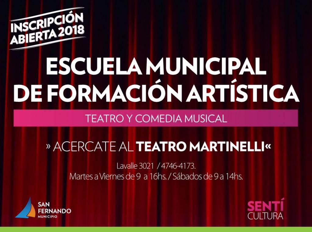San Fernando abrió la inscripción para sus Escuelas de Teatro y Comedia Musical